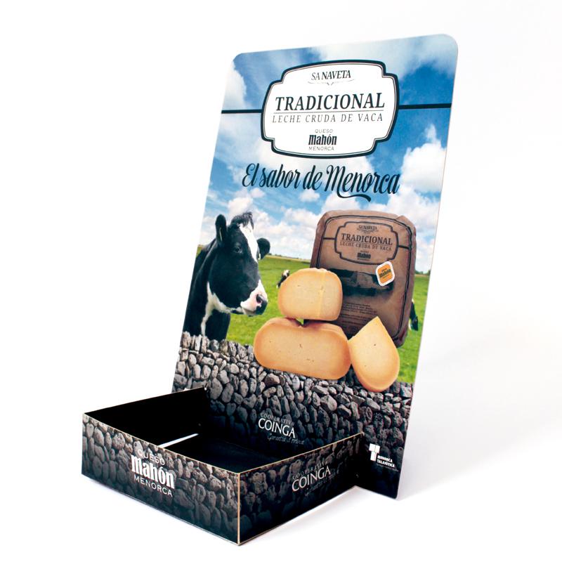 display expositor queso traidicional Mahón