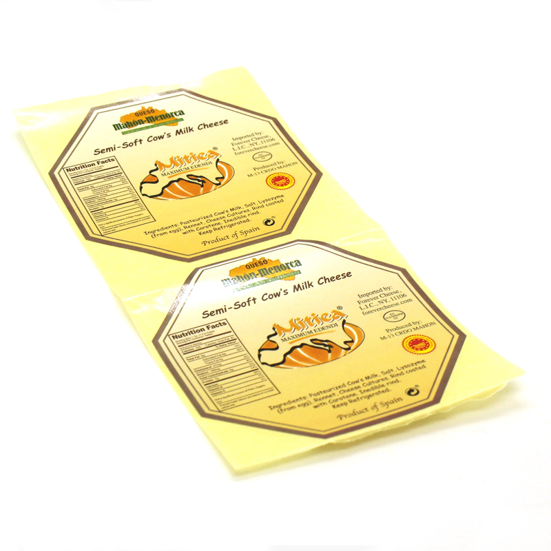 etiqueta adhesiva queso