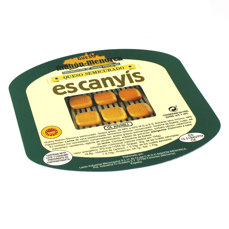etiqueta adhesiva queso Es Canyís
