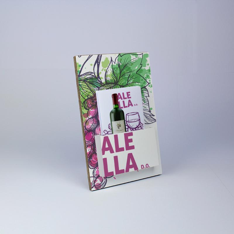 Brintel display con pestaña para folletos para vinos diseño - diseño gráfico - artes gráficas - imprenta - etiquetas - bolsas - packaging - display - imagen - plv