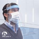 Máscara facial poliuretano protectora